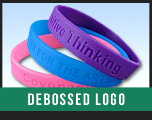 debossed baller wristband